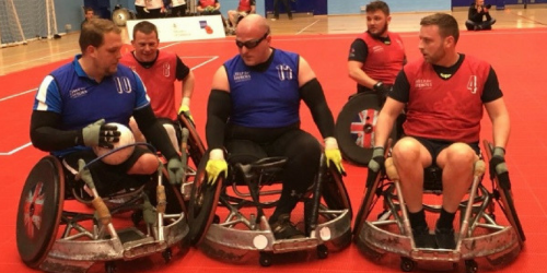 Wheelchair rugby muscle fatigue